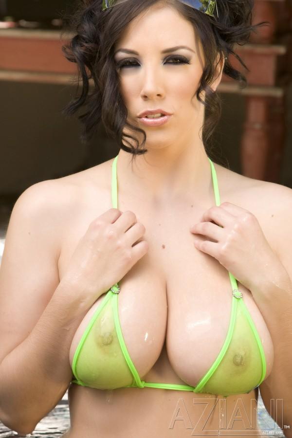 sheer wet bikini jensen Jelena